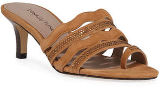 Donald J Pliner Kay Embellished Low-Heel Sandals