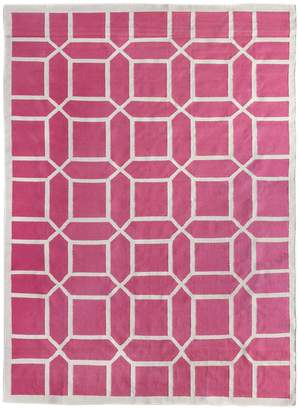Exquisite Rugs Octagon Dhurrie Hand-Woven Wool and Cotton Rug