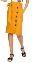 05bae5373 Yellow Pencil Skirt - ShopStyle