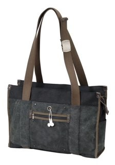 Travelwell CANVAS COMPUTER ZIP IMPACT TOTE