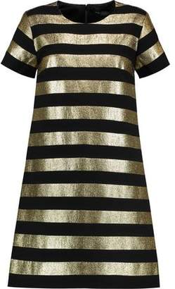 Marc By Marc Jacobs Striped Lamé And Crepe Mini Dress