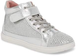 Ralph Lauren Lorraine Charley Crystal Embellished High Top Sneaker