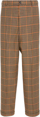 PT Forward Checked Wool-Blend Straight-Leg Pants