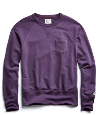 Todd Snyder + Champion Terry Pocket Sweatshirt in Plum Royale