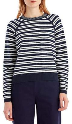 Jason Wu GREY Striped Crewneck Sweater