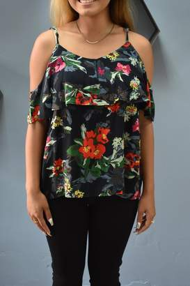 RD Style Floral Cold Shoulder