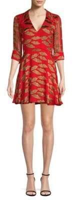 Alice + Olivia Catina Faux-Wrap Dress