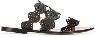Chloé Lauren laser-cut sandals