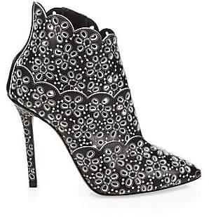 Gucci Alaà ̄a Women's Laser-Cut Leather Booties