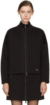 DSQUARED2 Black Bonded Zip-Up Sweater