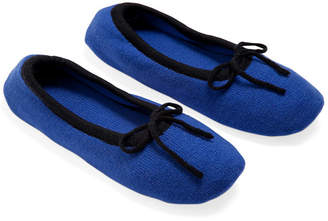 A & R Cashmere A&R Cashmere Merino Wool Slippers - Cobalt - a&R Cashmere