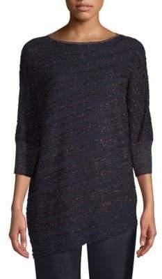 St. John Copper Eyelash Lace Knit Sweater