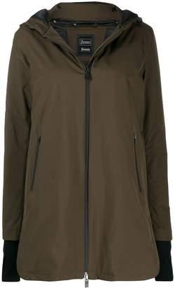 Herno zip-front parka coat