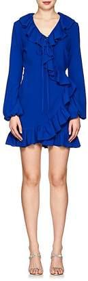 Juan Carlos Obando Women's Ruffle Crepe Wrap Minidress