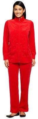 Factory Quacker Short Velour Jacket & Pants Set w/Rhinestones