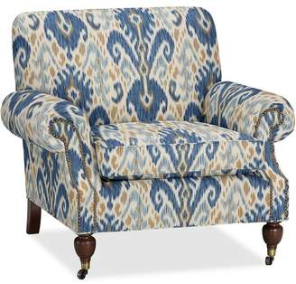 Pottery Barn Brooklyn Upholstered Armchair - Print and Pattern
