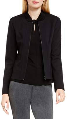 Vince Camuto Front Zip Collarless Jacket