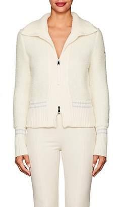 Moncler Women's Maglione Bouclé Bomber Jacket - White