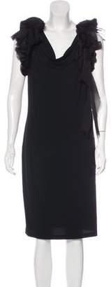 Givenchy Plissé-Embellished Cocktail Dress