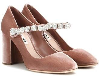 Miu Miu Velvet Mary Jane pumps