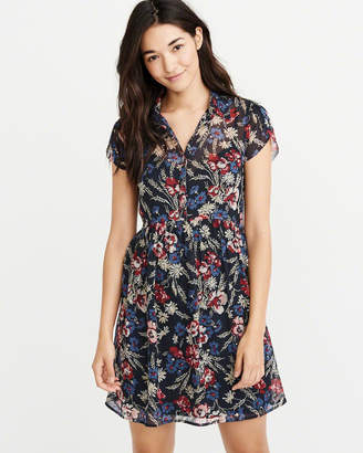 Abercrombie & Fitch Chiffon Shirt Dress