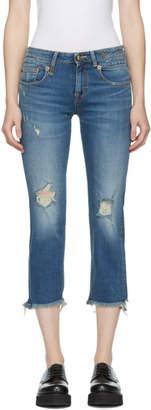 R 13 Blue Straight Boy Jeans