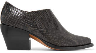 Chloé Rylee Snake-effect Leather Ankle Boots - Black