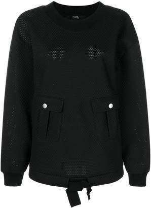 Karl Lagerfeld oversized mesh sweatshirt