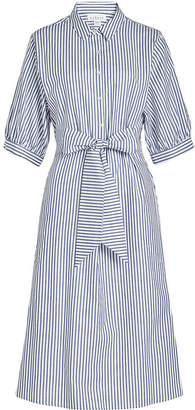 Velvet Penelope Striped Cotton Shirt Dress