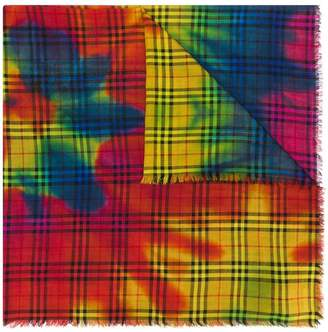 Burberry tie-dye vintage check scarf