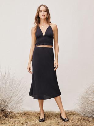 Diane von Furstenberg TVF Lilac Crepe Midi Skirt