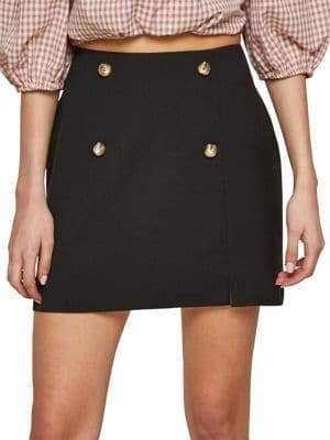 Miss Selfridge Button Mini Skirt