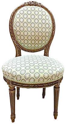 One Kings Lane Vintage Antique Carved Medallion Back Side Chair - Vermilion Designs