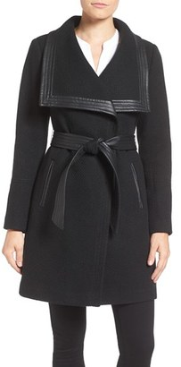 Women's Jessica Simpson Belted Basket Weave Wrap Coat $240 thestylecure.com