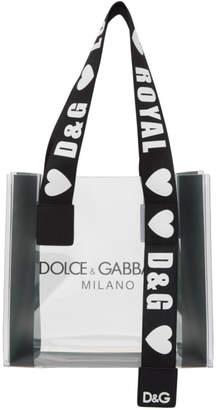 Dolce & Gabbana Transparent PVC Street Shopping Tote