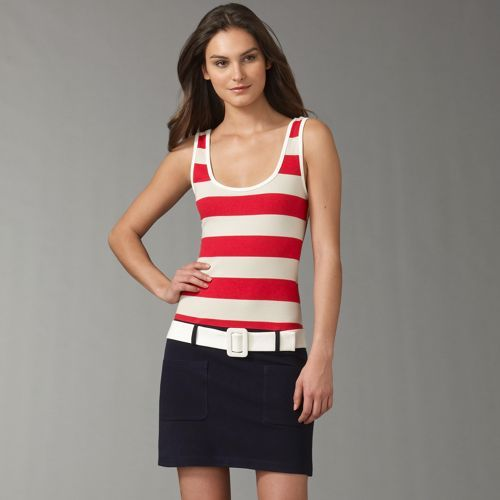 L.A.M.B. Mod Stripe Knit Dress