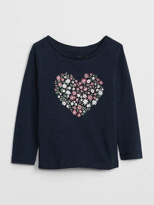 Gap Sparkle Graphic Long Sleeve T-Shirt
