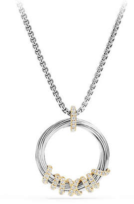 David Yurman Helena Small Pendant Necklace with Diamonds