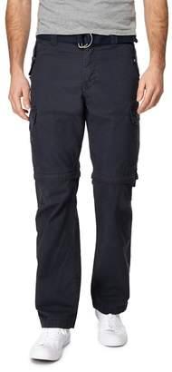 Mantaray Navy Zip Off Leg Cargo Trousers