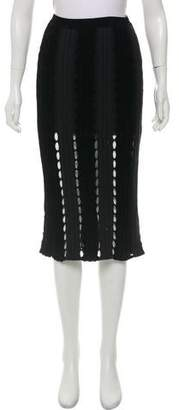 Alexander Wang Rib-Knit Knee-Length Skirt