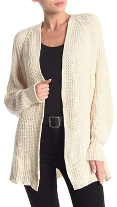 Poof Chenille Open Knit Cardigan