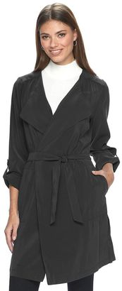 Women's Apt. 9® Draped Charmuese Trench Coat $78 thestylecure.com