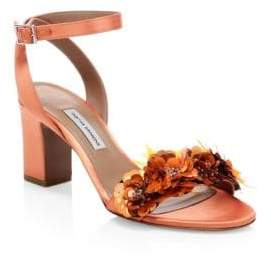 Tabitha Simmons Lilian Floral Sequin Leather Sandals
