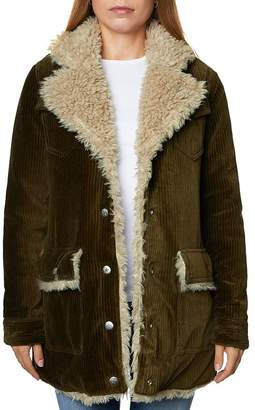 SAGE Collective Valley Faux Shearling-Lined Corduroy Jacket