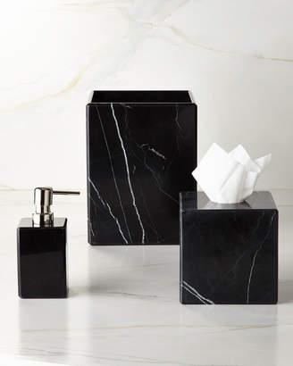 Waterworks Studio Luna Black Marble Tissue Box Cover