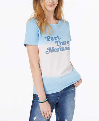 Freeze 24-7 Juniors' Mermaid Cotton Dip-Dyed T-Shirt
