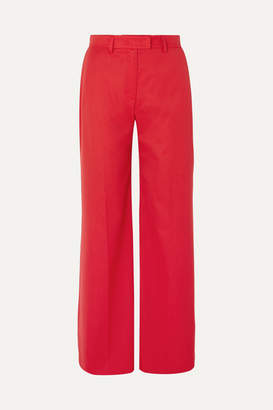House of Holland Crepe Wide-leg Pants - Red