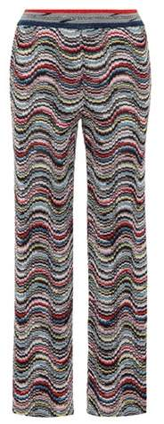 Missoni Metallic striped trousers