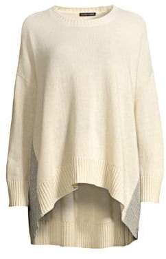 Eileen Fisher Cashmere Wool Drop Shoulder Sweater