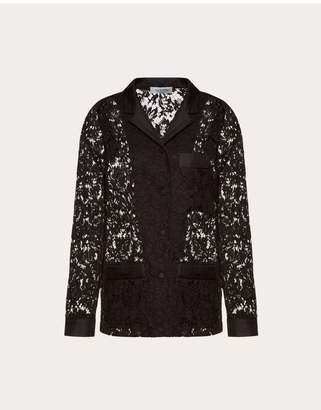 Valentino Heavy Lace Pajama Shirt